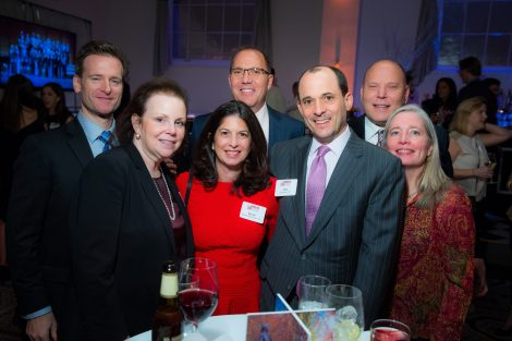 Ed March '90 and his wife, Veronica; Bonnie Wein-Stern '88 and Andy Stern '87; Tim Moeller '88 P'21 (back); Hayes '88 and Eileen Williams '88