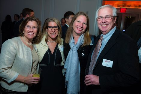 Margie Rodgers '87, Lisa Grant '87, Kathleen Squires '88 and Jim Rodgers