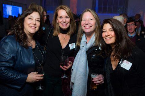 Paula Goldberg Madoff '89, Katie Longo Van Cleef; Kathleen Squires '88, and Daniele Cardelia '89