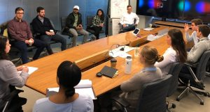 Students in the Chicago career-exploration program attend a meeting.