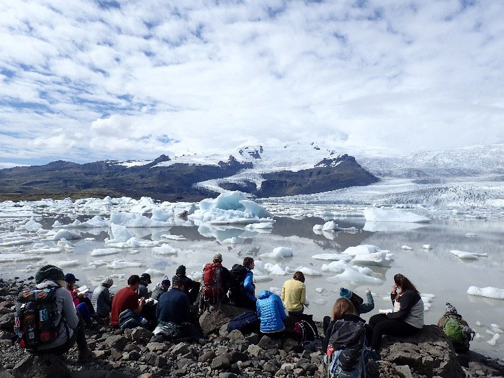 The class at Fjallsárlón Iceberg Lagoon