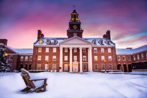 Watson Hall after snowfall