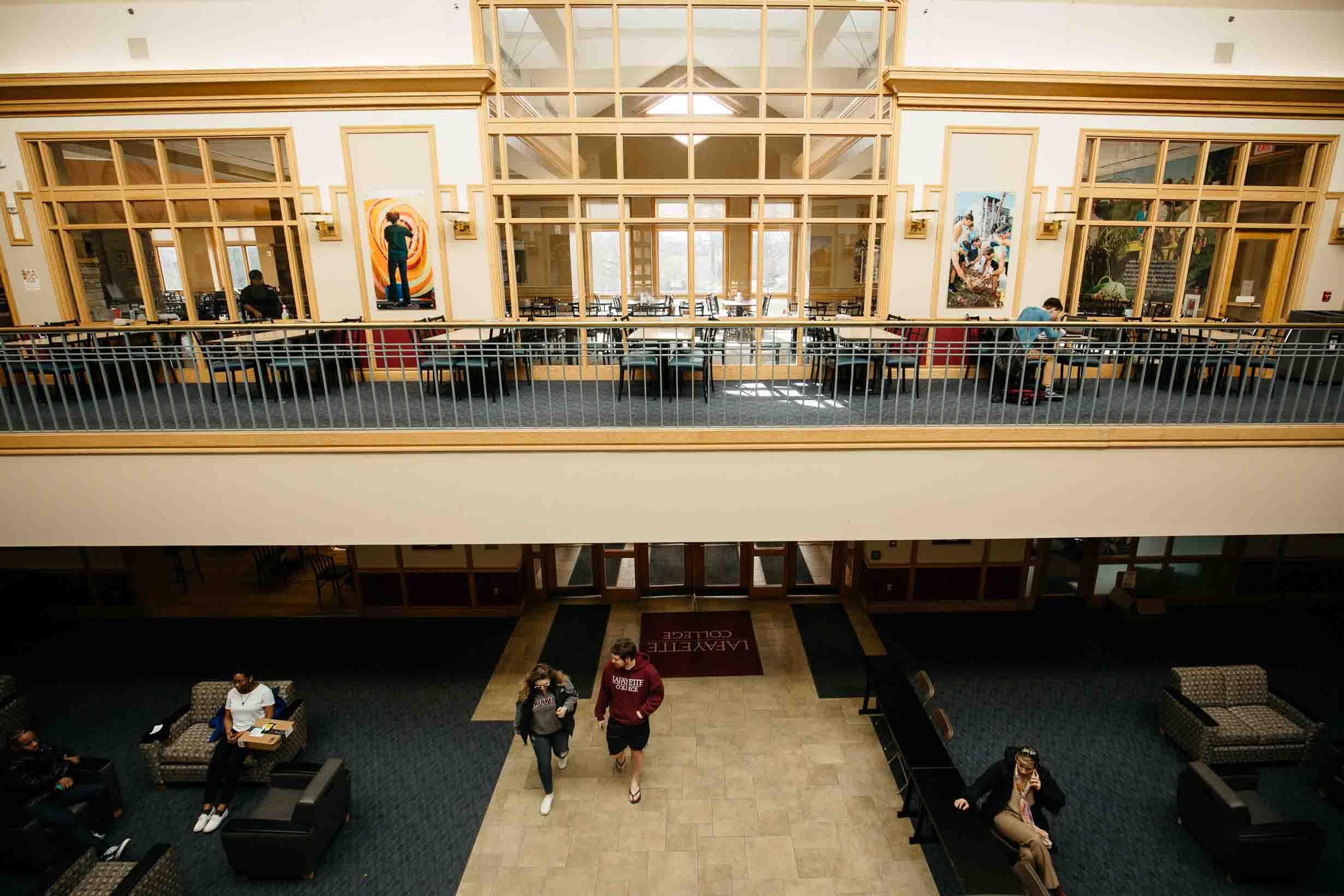 An interior view of Farinon College Center