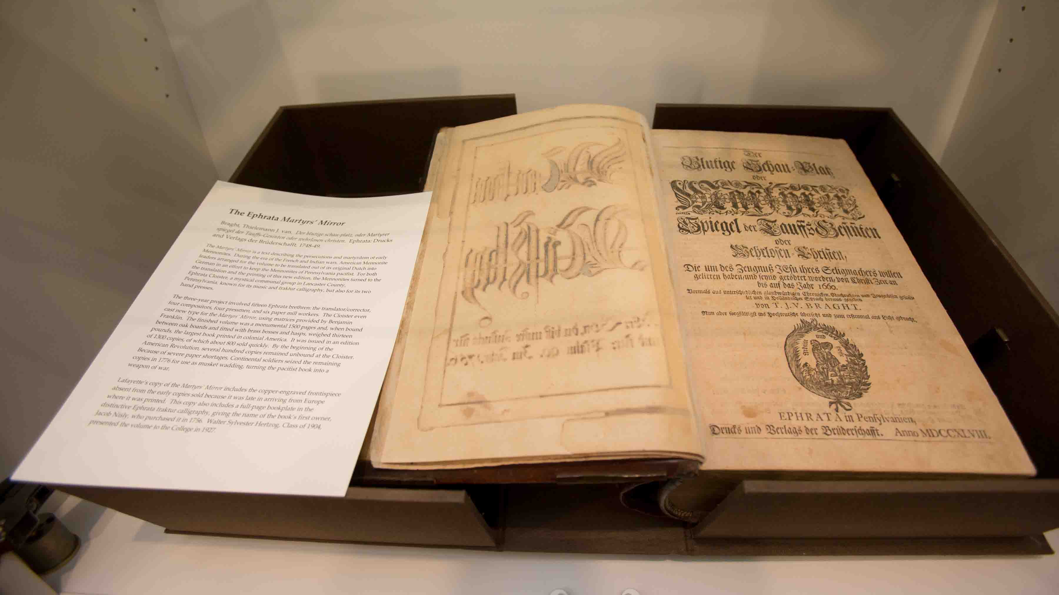 Martyrs Mirror, the largest book printed in colonial America
