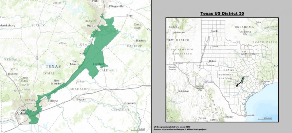 A map of Congressional District 35 in Texas