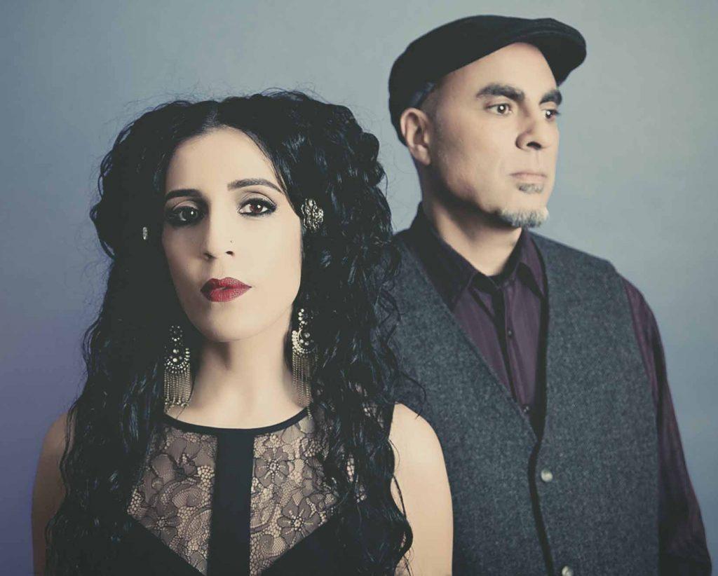 Azam Ali and Loga Torkian of the Iranian-Canadian music group Niyaz