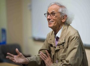World-famous environmental artist Christo gives the 2018 Grossman Visiting Artist lecture.