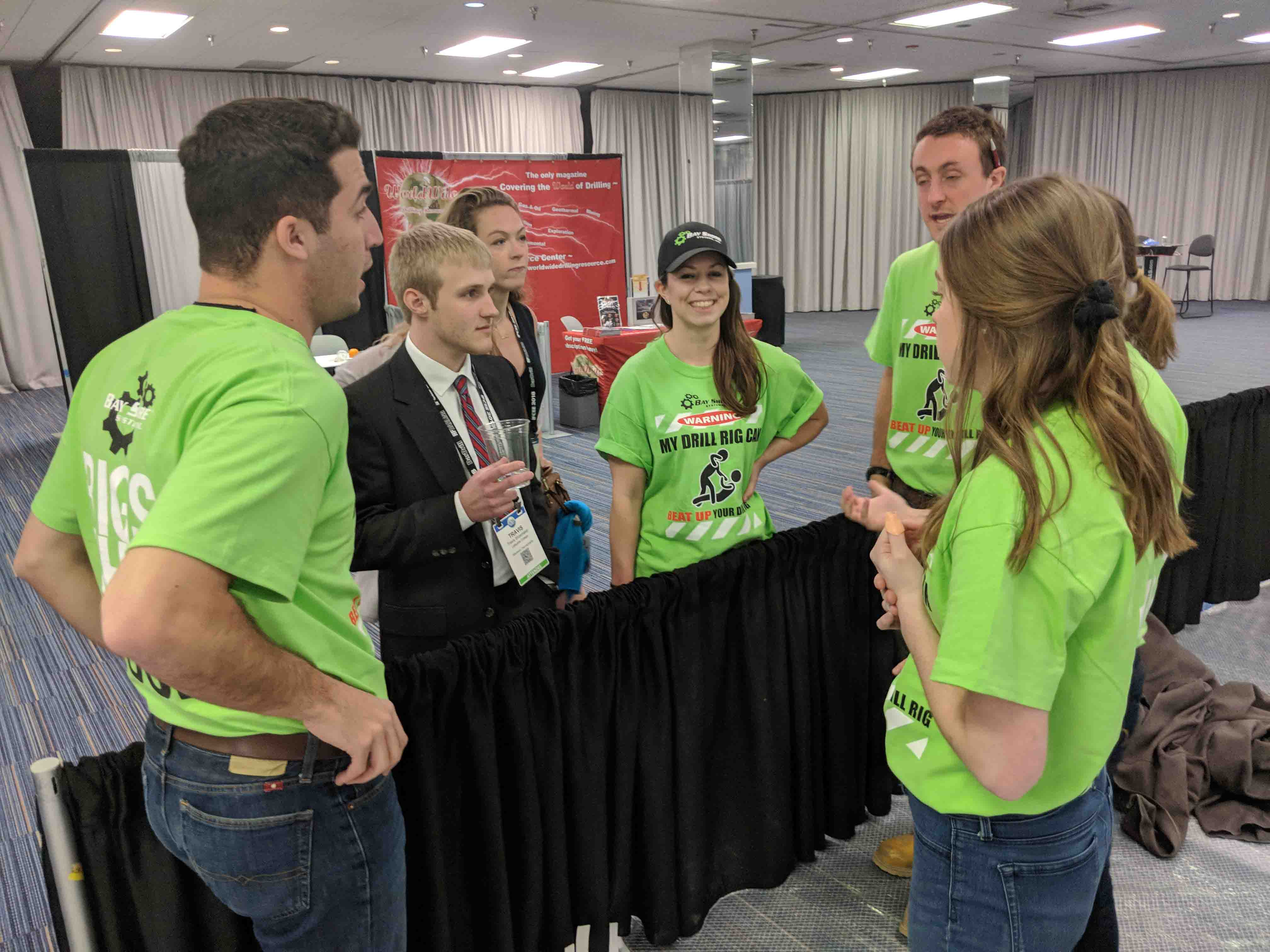 Lafayette students in the Geotechnical Engineering Competition talk strategy.