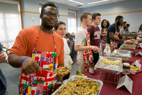 The ISA Extravaganza Food Tasting was held in the Marlo room of Farrinon Student center on Friday evening, April 13, 2018. Students from all over the world prepared dishes to share their culture in this International food tasting event as part of the International Students Association Extravaganza Week at Lafayette College.
