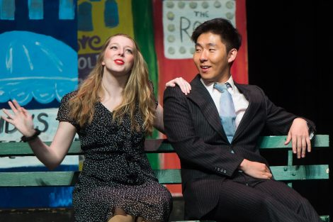 Students rehearse for the Marquis Players production of