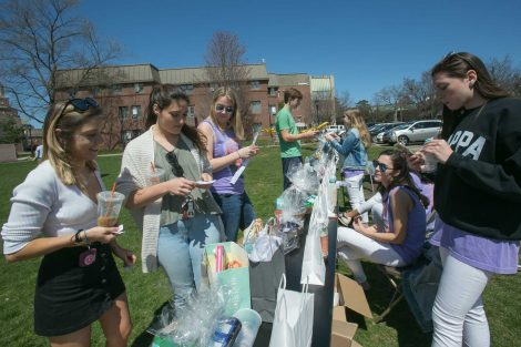 Students participate in activities to honor the life of Marina Petersen '10