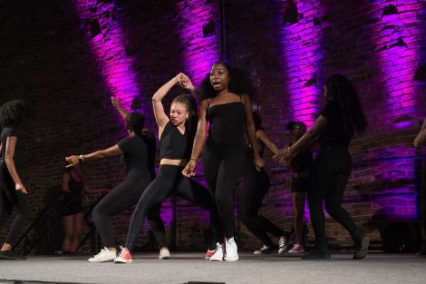 The Precision step dance team holds its 10th Annual Haters Step Back Step Competition at Ahart Plaza.