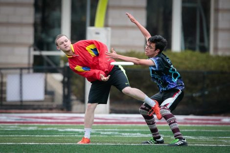 Ultimate Frisbee Practice at Fisher Field