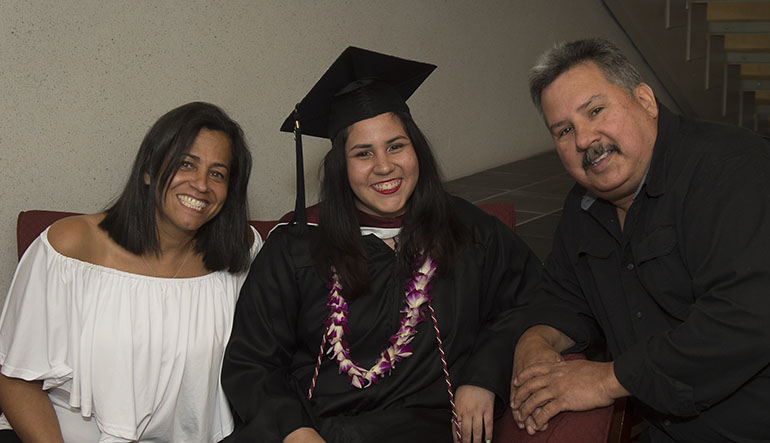 Ashley Rodriguez and family at graduation