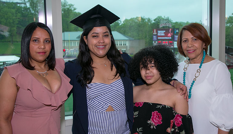 Cindy Matos and family at graduation