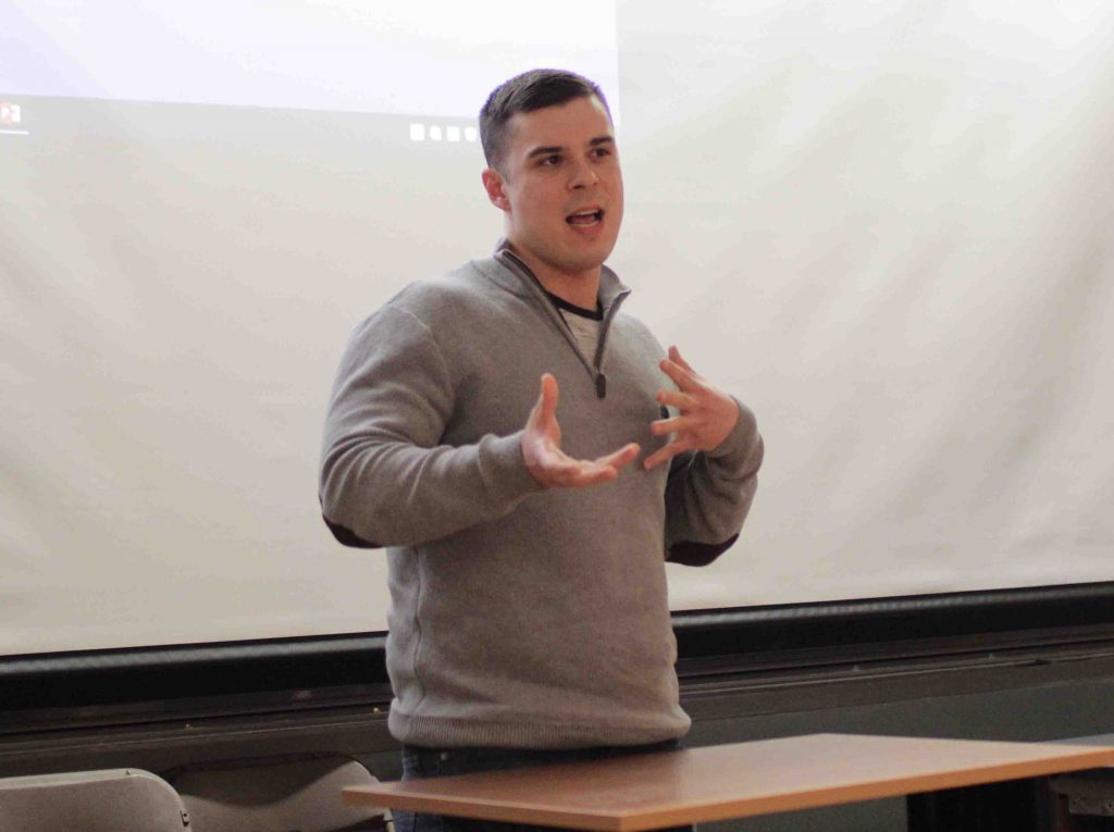 Speaking at the opoid awareness event is A 29-year-old recovering addict with seven years clean, Dan a full-time student pursuing a B.S. in environmental studies who is enjoying his life without the use of drugs as a member of a 12-step fellowship.
