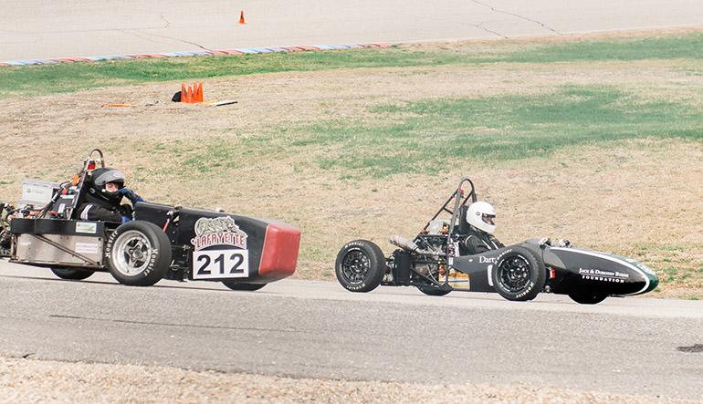 Formula car on track