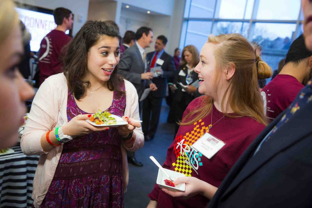 Kenzie Corbin '19 at the opening of Buck Hall in the Williams Arts Campus of Lafayette College.