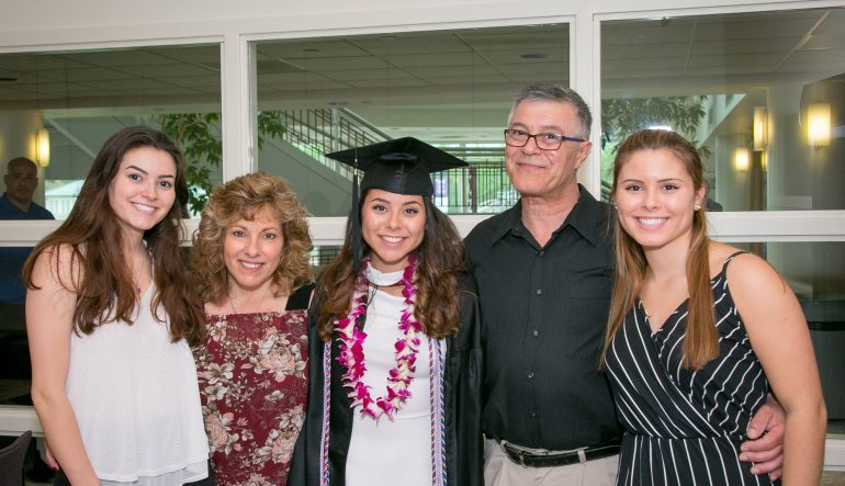 Nicole Lauricella and family at graduation