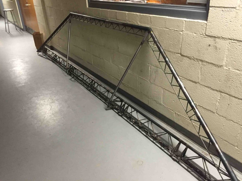 The model steel bridge
