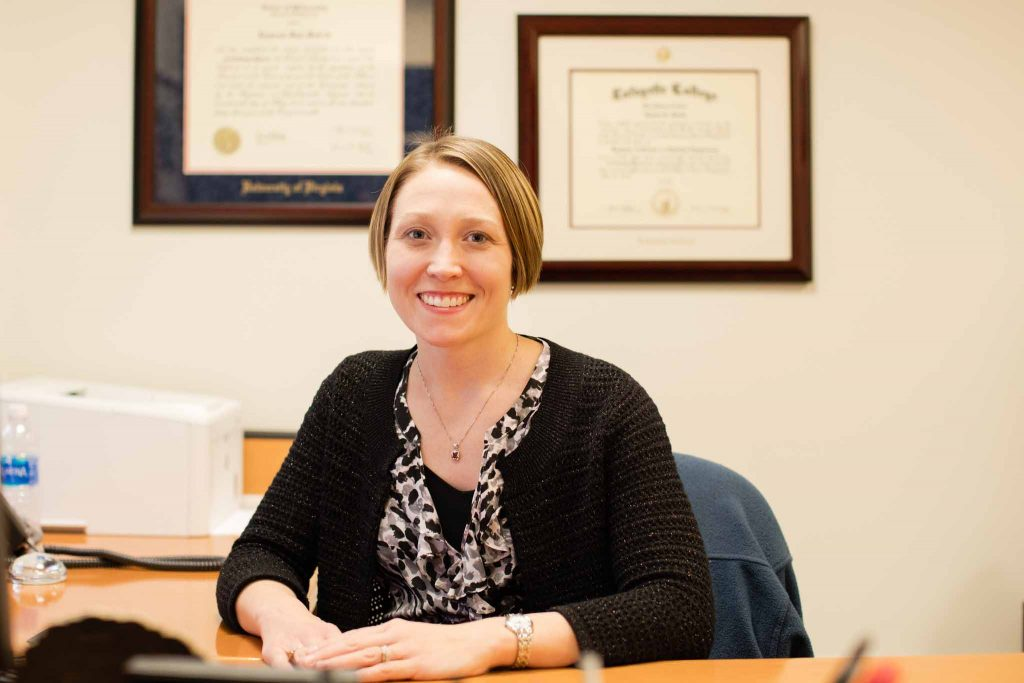 Chemical and biomolecular engineering professor Lauren Anderson