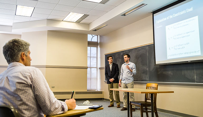 Students deliver final presentations