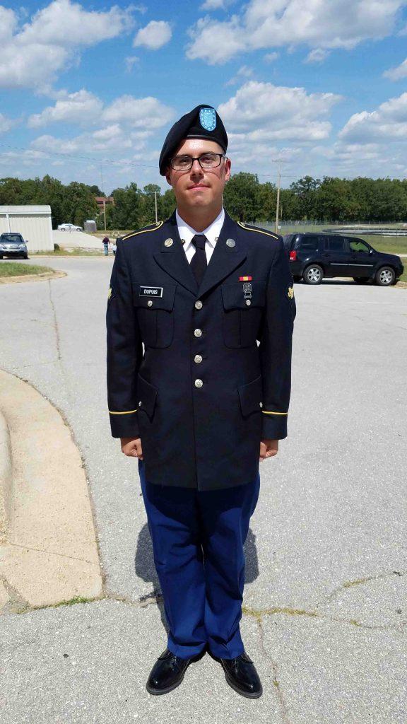 Ryan Dupuis in his U.S. National Guard uniform