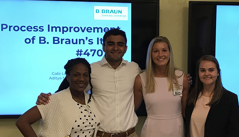 students at B Braun