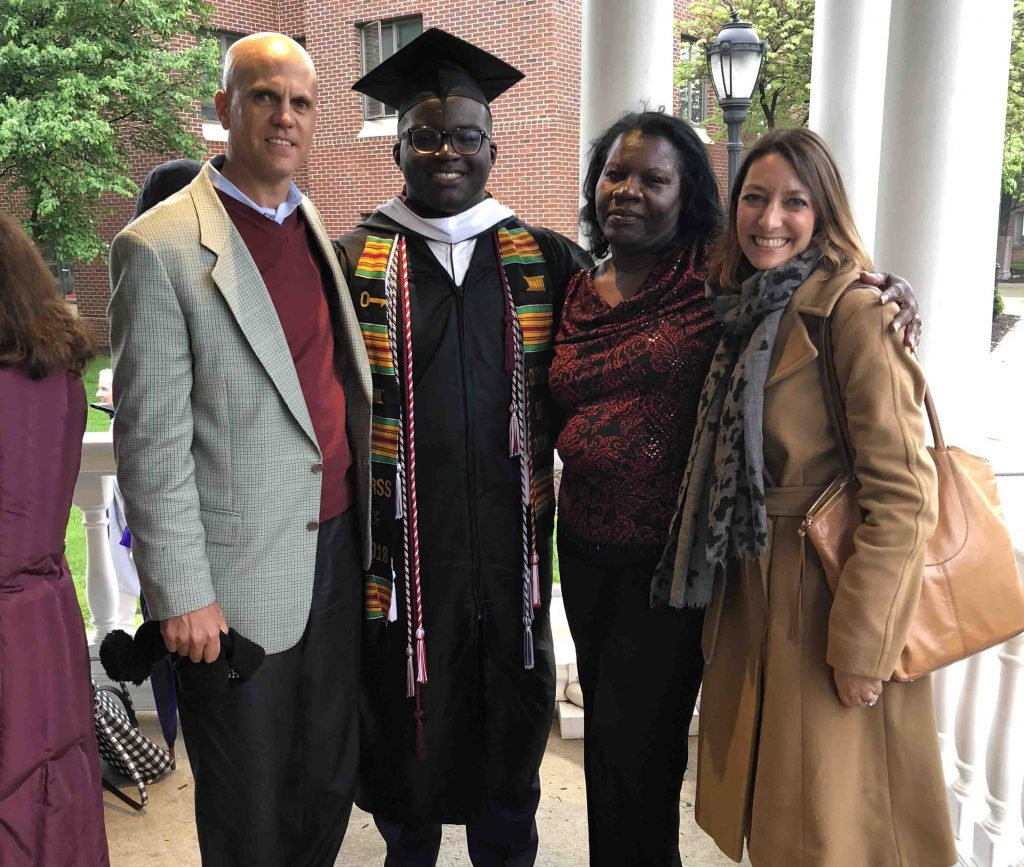 Chris Felix '18 in a group photo on Commencement day