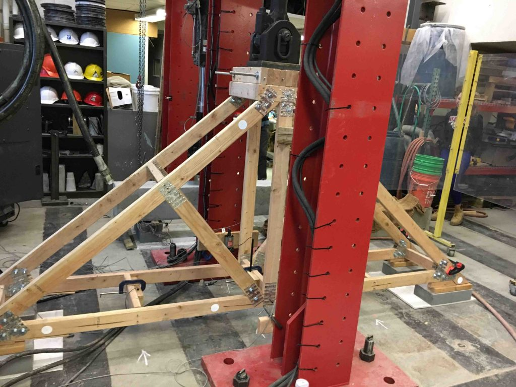 The Maroon Monster hydraulic press used in civil engineering
