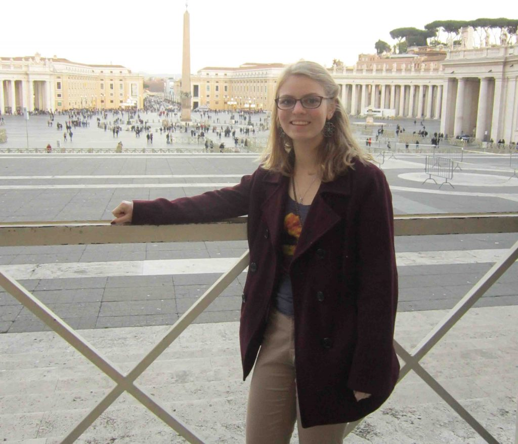 Andrea Killian poses for a photo during her study abroad in Rome.