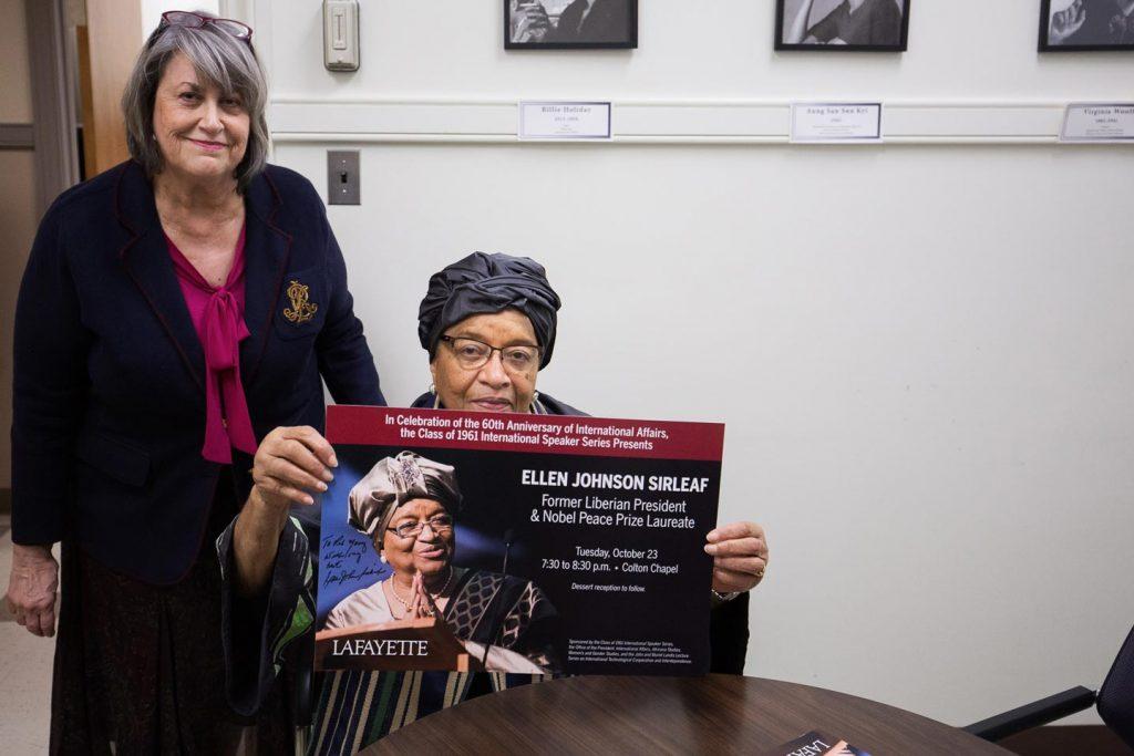 Diane Shaw and Ellen Johnson Sirleaf
