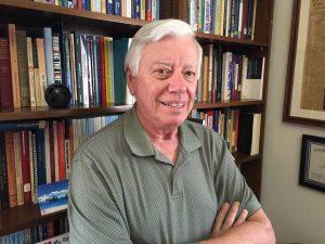 Professor John Kincaid in his office
