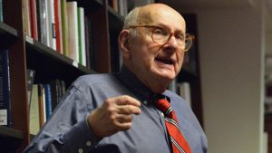 Retired history professor Arnold Offner