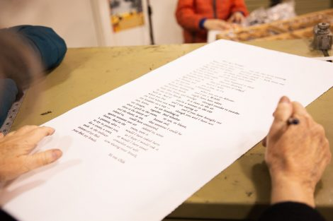 Words on paper at Lafayette College's Experimental Printmaking Institute
