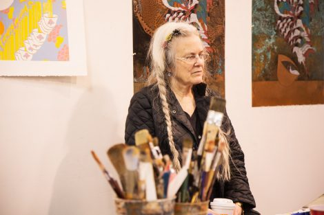 Poet Sharon Miller at Lafayette College's Experimental Printmaking Institute