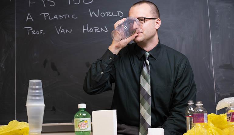Ryan Van Horn teaches a plastics FYS