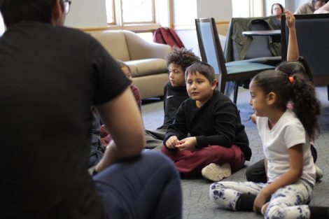 Elementary students discuss what they would do.