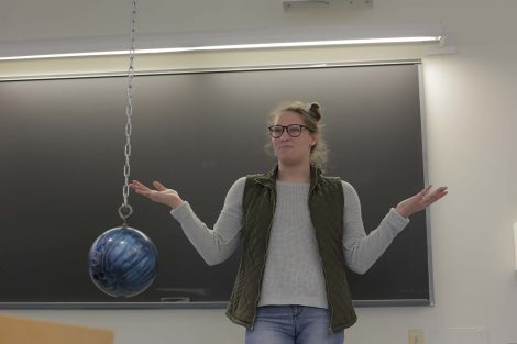 Lafayette student asks what will happen without air in the tube.