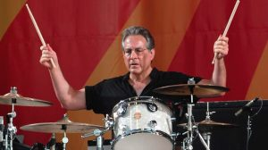 Max Weinberg playing the drums