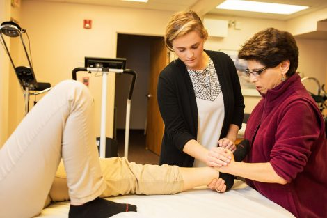 Quinn Lacy at physical therapy externship