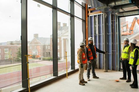 Externs tour the new Rockwell Integrated Sciences Center