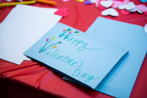 students make cookies and cards for children at St. Luke's Hospital