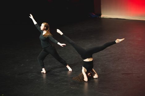 students dancing for the dance company showcase at williams