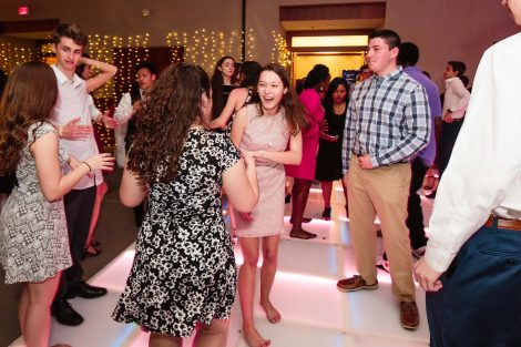 Students dance at the annual President's Ball.