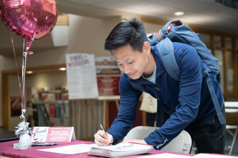 students write thank you letters to donors