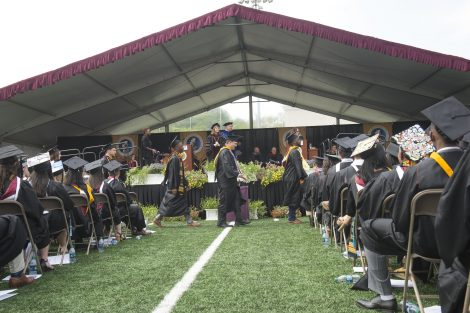 Graduates wait to get their diplomas at Lafayette's 184th Commencement.
