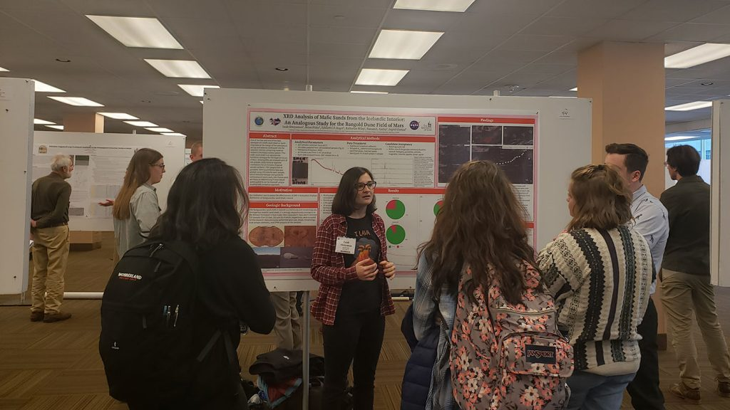 Leah Shteynman presented her research at a geology conference.