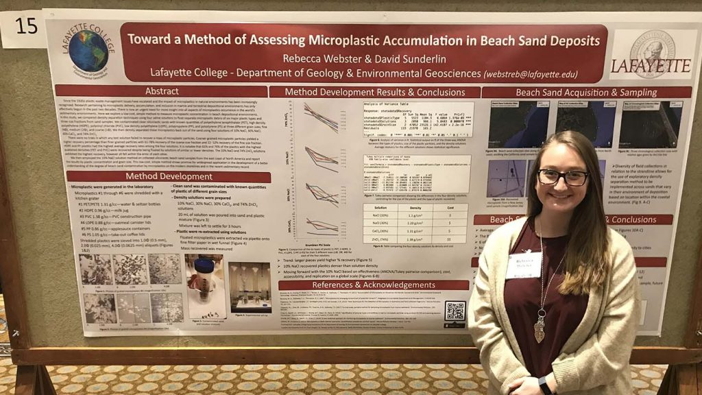Rebecca Webster presented research at a geology conference.