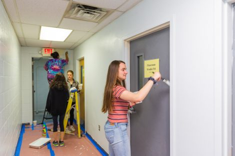 Painting the Rover Room at Easton Area Middle School